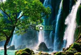 Картинки Водопады для фотообоев